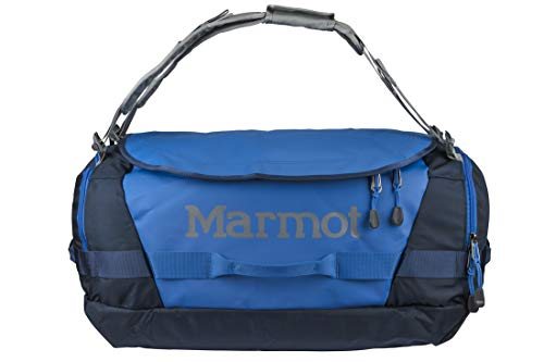 Marmot Long Hauler Medium Travel Duffel Bag, 3050ci (50 Liter), Peak Blue/Vintage Navy