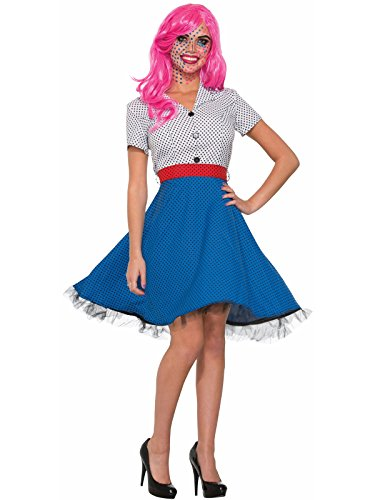 Forum Novelties Pop Art Ms Dottie Costume - Standard - Dress Size 6-12 -