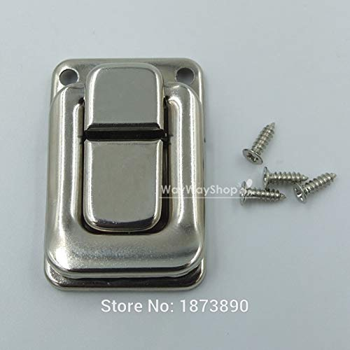Buckes - 50 Sets Toggle Case Catch Latch Trunk for Drawbolt Closure Box Bag Nickle by Lysee (Image #2)