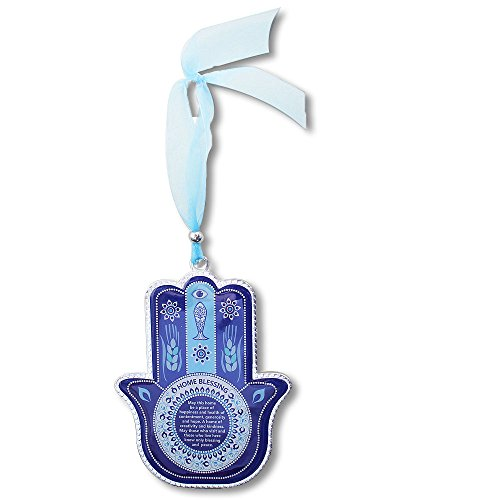 - My Daily Styles Blue Blessing for Home in English Good Luck Wall Decor Hamsa Hand