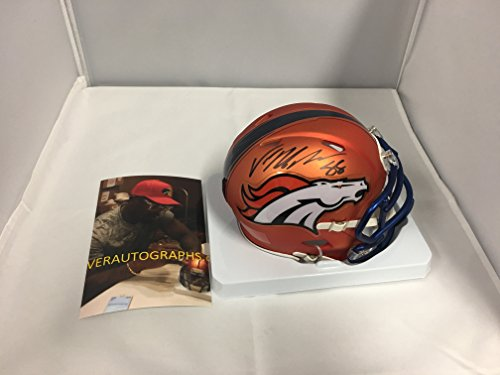 Von Miller Signed Autographed Denver Broncos Rare BLAZE Speed Mini Helmet COA & Hologram W/Photo From (Denver Broncos Collectibles)