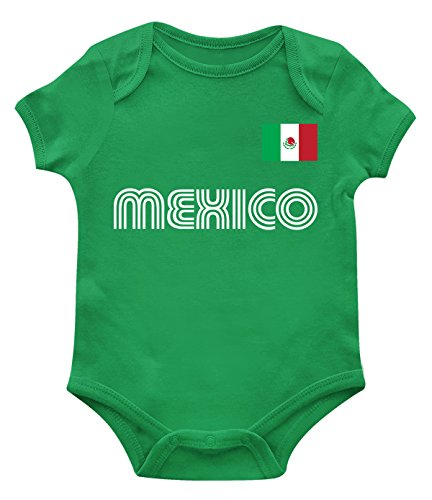 SpiritForged Apparel Mexico Soccer Jersey Infant Bodysuit, Kelly 24 Months