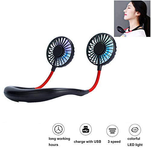 Portable Fan With Led Light in US - 1