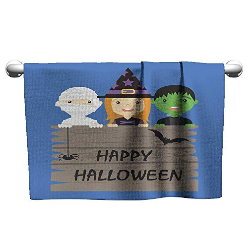 Tankcsard Floral Hand Towels Halloween Costume Party with Kids,Shammy Towel for car ()