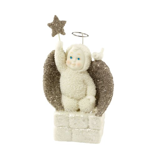 Wings Peace Figurine Angel (Department 56 Snowbabies 25th Anniversary Angel of Peace Figurine)