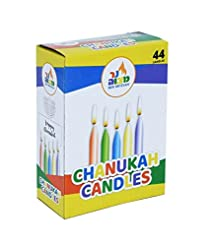 Ner Mitzvah Colorful Chanukah Candles - ...