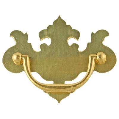 - P-60B SMALL CHIPPENDALE DRAWER PULL HANDLE ANTIQUE CABINET, DESK OR ANY VINTAGE FURNITURE REPRODUCTION RESTORATION HARDWARE + FREE BONUS (SKELETON KEY BADGE) (6)