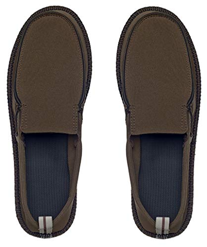 Showaflops Mens' Classic Loafer Style Neoprene Slip On Shoe with Faux Jute Sole, Olive 11/12
