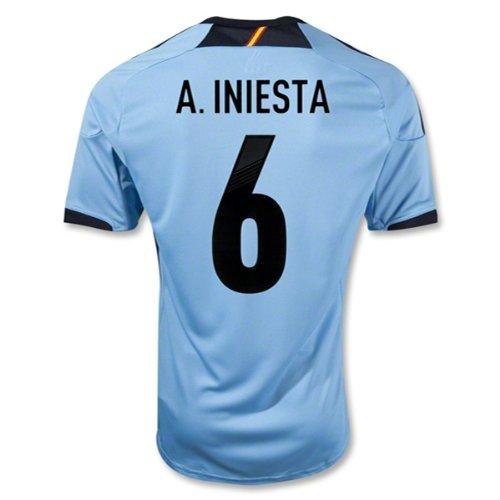 adidas Iniesta #6 Spain Away Jersey 2012/2013 (M) Blue ()