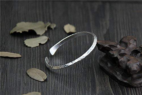 Handmade Sterling Silver Hammered Bracelet,Handmade Sterling Silver Bracelet