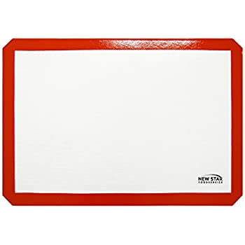 New Star Foodservice 36657 Commercial Grade Silicone Baking Mat Non Stick Pan Liner, 14 x 20 inch (Two-Thirds Size)