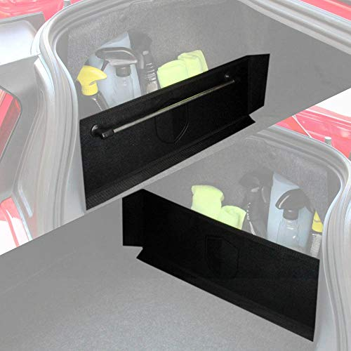 RED SHIELD Auto Trunk Organizer for Car, SUV, or Minivan, Set of 2, One with Towel Rack, One Without, 22.4 inch by 7 ()