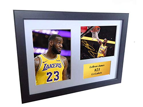 - Lebron James - LA Lakers - 12x8 A4 Autographed Photo Photograph Signed Picture Frame Gift Basketball