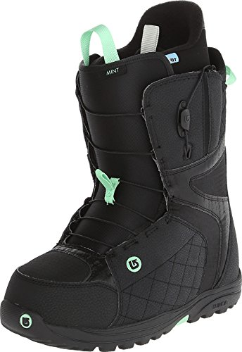 Burton Womens Mint Snowboard Boots 2015, Black-Mint, 6