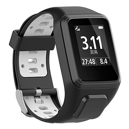 FUNKID Compatible for Smartwatch Wirstbands Tomtom Runner 2/3,Spark 3,Golfer 2 Adjustable Straps Replacement Stylish Bands
