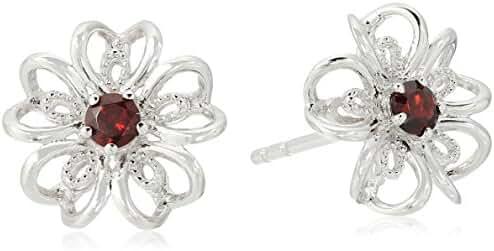 Sterling Silver Black Stud Earrings