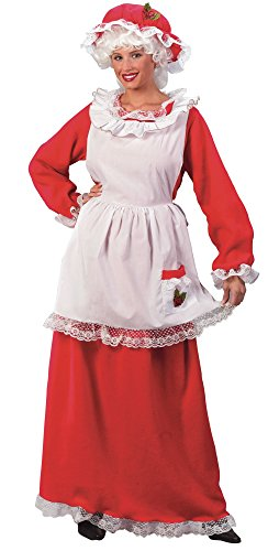 Fun World Costumes Women's Adult Mrs.Claus Promo Suit, Red/White, One (Mrs Santa Outfit)