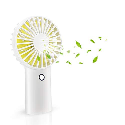 Handheld Fan Portable Battery Operated Hand Fan with 4000mAh capacity Personal Portable Fan with 3 Speeds USB Rechargeable Battery Electric Fan Stroll Desk Fan for Outdoor,Traveling,office (white fan)