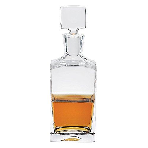 badash-enzo-square-european-mouth-blown-lead-free-crystal-decanter-h1025-28-oz