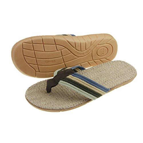 Mens Summer Flip Flops Leisure Antiskid Home Thong Flat Sandals Beach Slippers Shoes Blue snixXyGV