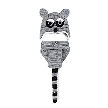 ba1a2767b22 Buy Babymoon Baby Boy s and Girl s Shorts and Hat Crochet Clothing (Raccoon)  - Set of 2 Online at Low Prices in India - Amazon.in