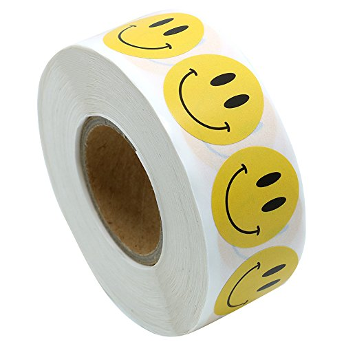 Hybsk(TM) Yellow Smiley Face Happy Stickers 1