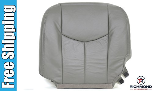2003-2007 GMC Sierra 1500HD 1500 HD SLT SLE Z71 Driver Side Bottom Replacement Leather Seat Cover, Gray