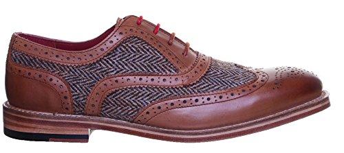 Homme Ville De Peau Pour Reece Chaussures Lacets À Truman Justin vqwxfIg8Ox