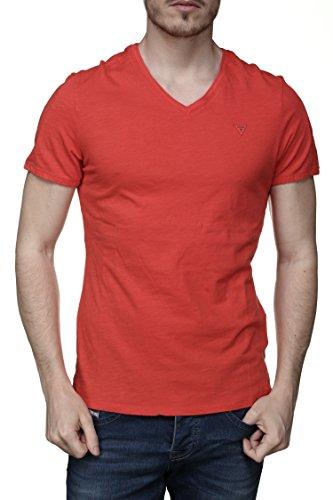 Primavera Rosso T M82i09 F5q0 Uomo shirt k6xn0 estate Guess O7S0Xv
