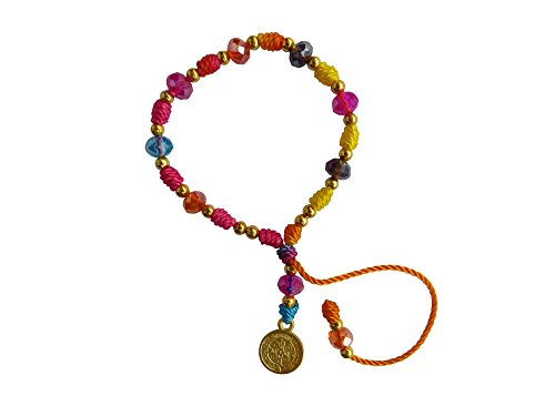 Multi Colored Thread with Cristal Beads Saint Benedict Bracelet Pulsera De San Benito