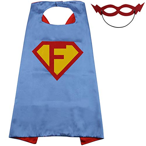Superhero Cape for Boys, Boys Gift Birthday Gifts, Blue and Red Cape with Red Mask 27.5