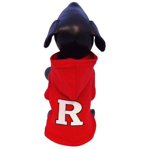 All Star Dogs NCAA Rutgers Scarlet Knights Cotton Lycra Hooded Dog Shirt, XX-Small Red by All Star Dogs