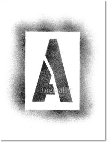 Amazon Com Barewalls Stencil Letters In Spray Paint Paper