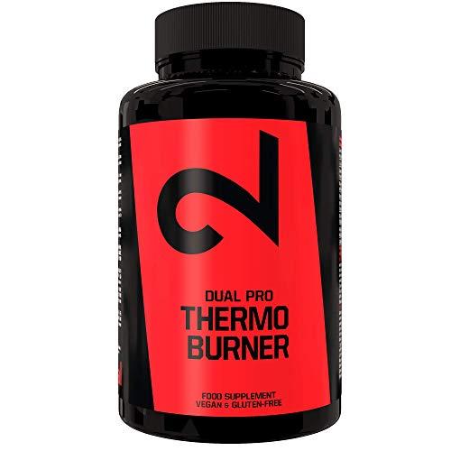 DUAL Pro Thermo Burner | Quemador de Grasa Natural Para Keto Dieta | 90 Cápsulas Veganas Para Pérdida de Peso Para Hombres y Mujeres Con Efecto Termogénico |100% Natural y Sin Aditivos| Certificado