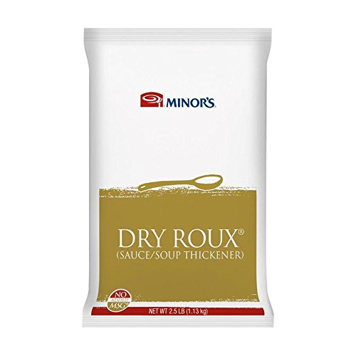 Minor's Dry Roux Sauce, Soup and Sauce Thickener, Cornstarch or Xanthan Gum Substitute, 2.5 lb. Container