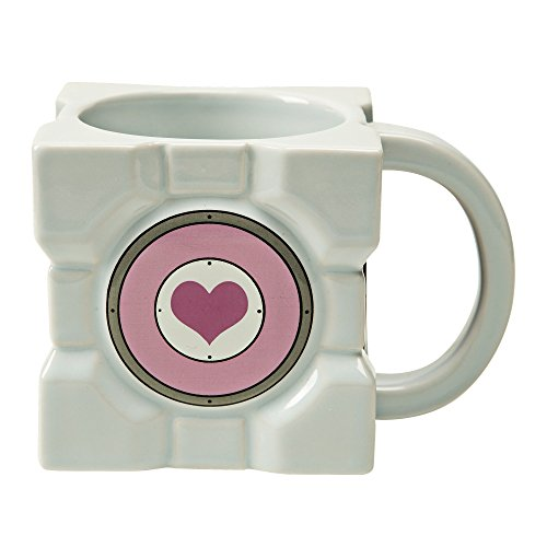 JINX Portal 2 Companion Cube Ceramic Mug (7.1 ounces) -