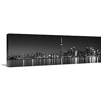 Poster Panorama Toronto Skyline Black and White Panoramic Fine Art Print Photo