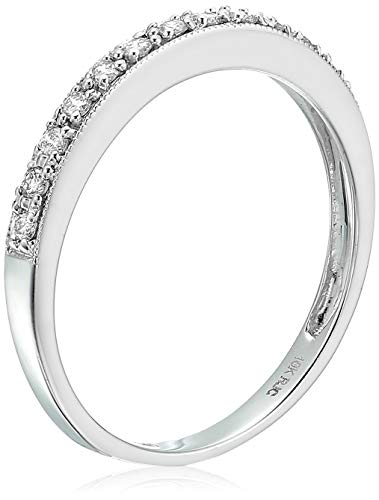 Vir Jewels 1/6 cttw Petite Diamond Wedding Band in 10K White Gold In Size 5