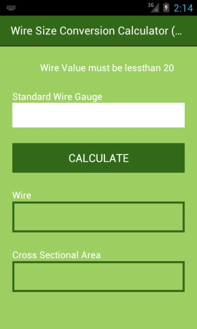 Amazon wire size conversion calculator swg appstore for android greentooth Images