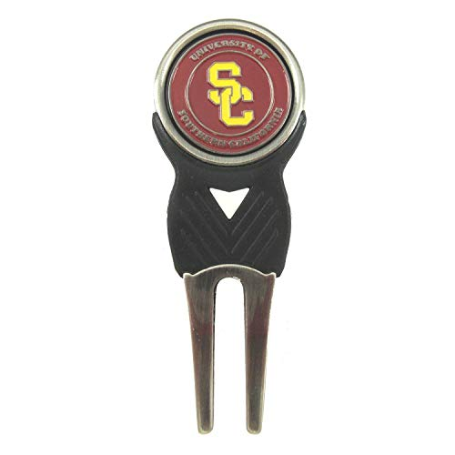 - USC Trojans Divot Tool with Double Sided Golf Ball Marker