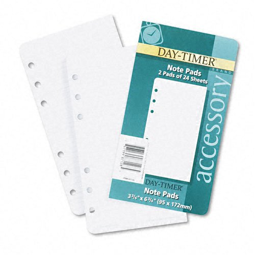 Day-Timer Products - Day-Timer - Lined Notes for Looseleaf Planners, 3-3/4 x 6-3/4, 48 Sheets/Pack - Sold As 1 Pack - Narrow ruled pages for extensive note-taking. - Ideal add-in - Notes Day Timer Lined