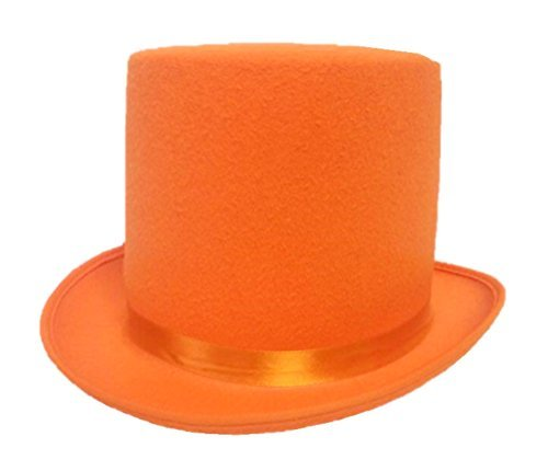 Orange Tuxedo Adult Costumes (Dumb and Dumber Style Orange Felt Top Hat Adult Tuxedo Costume Accessory Prom)