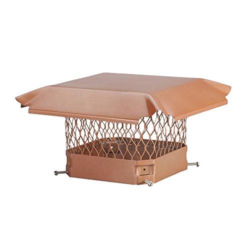 Draft King CP918 Bolt On Copper Single Flue Chimney Cap, 9″ x 18″ For Sale