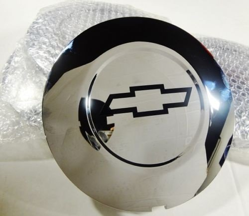 BDC CADILLAC ESCALADE 22'' CHROME CENTER CAP WITH BLACK OUTLINE CHEVY BOWTIE LOGOS