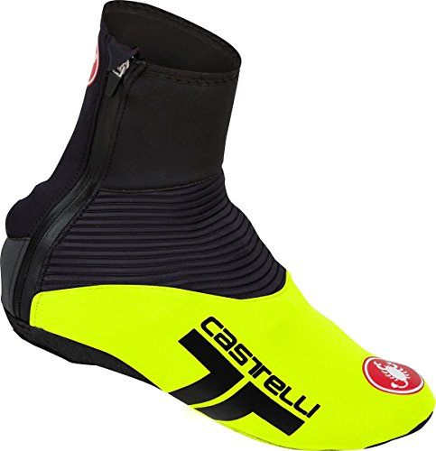 Castelli Narcisista 2 Shoe Covers Yellow Fluo/Black, XXL