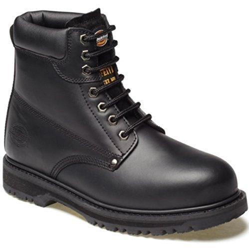 7 Safety Lightweight Work Resistant Shoes Fa23200 Slip amp; Oil Black Dickies Steel Heat Resistant Footwear amp; Steel Uk Boot Toe Sole Cleveland Size Midsole Branded Cap pqwxf74F