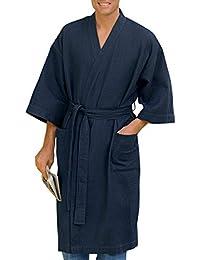 by DXL Big and Tall Waffle-Knit Kimono Robe a5622775e