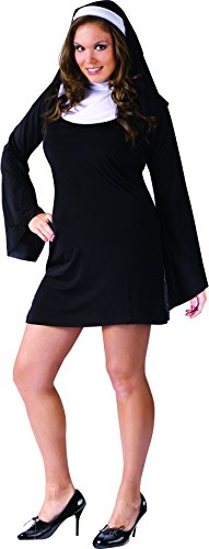 FunWorld Plus-Size Naughty Nun, Black, 16W-20W Costume