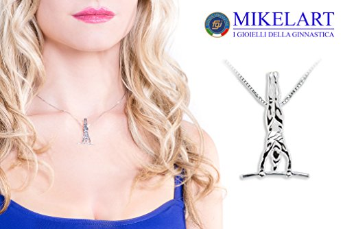bijoux gymnaste parallèle pendentif de gymnastique artistique