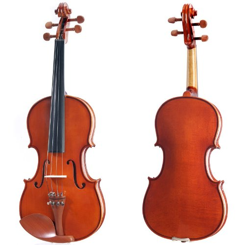 Cecilio CVN-200 Solid Wood Violin with Tuner and Lesson Book, Size 3/4